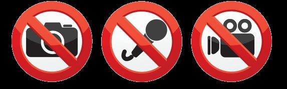 請勿於崇拜期間攝影、錄影或錄音